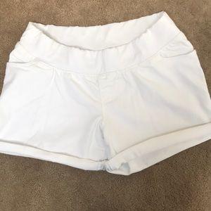 Liz Lange Maternity White Shorts, Size Medium